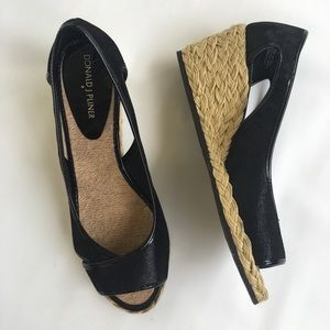 Donald J. Pliner Wedges Size 8.5 Black